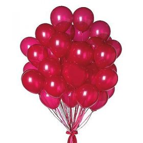 24 Red Color Plain Balloons - FromYouFlowers.pk