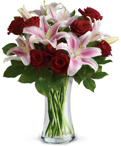 Delivery of Lilies With Roses in Pakistan - FromYouFlowers.pk