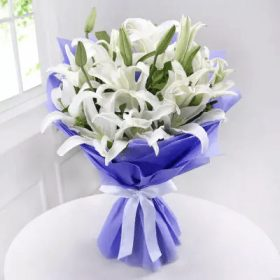White Lilies - FromYouFlowers.pk