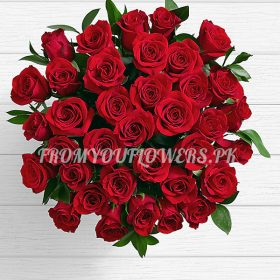 Charming of Red Roses b - FromYouFlowers.pk