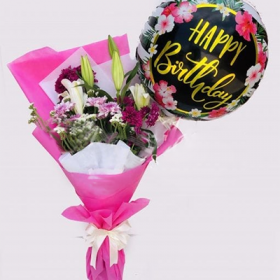 Delivery of Birthday Balloon & Flowers in Pakistan - FromYouFlowers.pk