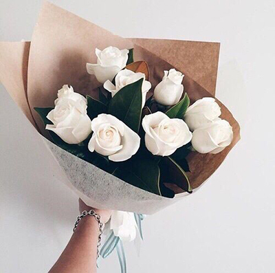 White Roses Bouquet - FromYouFlowers.pk