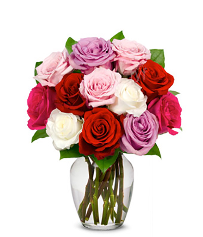 Delivery of Colorful Roses for Sweetheart in Lahore s - FromYouFlowers.pk