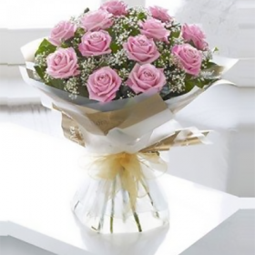 Prime Pink Roses - FromYouFlowers.pk
