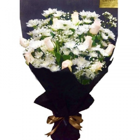 Roses and Chrys Bouquet- FromYouFlowers.pk