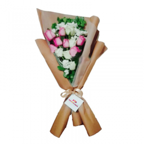 Delivery of Pink Roses Bouquet in Pakistan - FromYouFlowers.pk