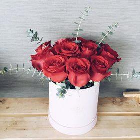 Reddish Roses Box - FromYouFlowers.pk