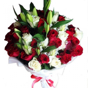 Ruby Red Bouquet - FromYouFlowers.pk