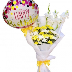 Yellow Flowers Birthday Bouquet- FromYouFlowers.pk