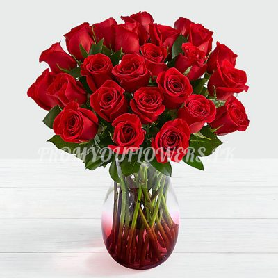 Sensational Red Roses a - FromYouFlowers.pk