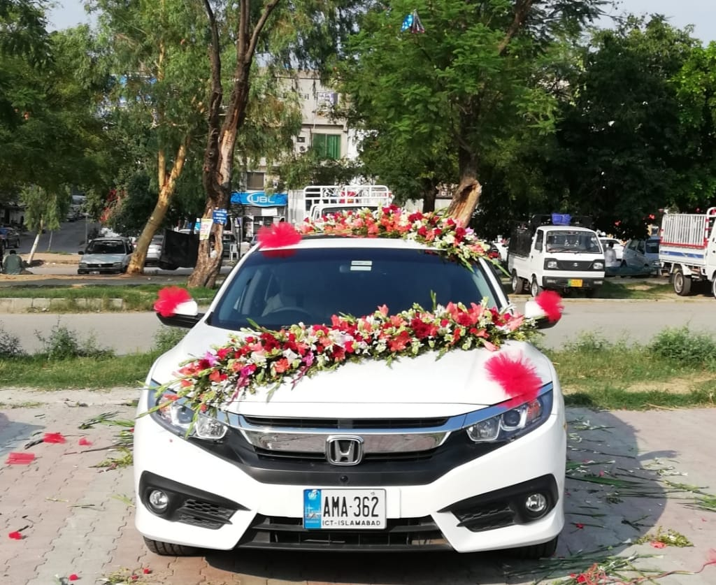 Civic For Wedding Car Roof Decoration Fronyouflowers Pk