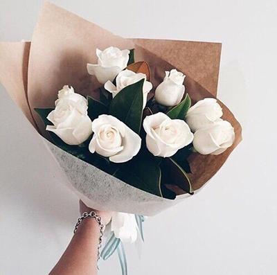 White Roses for him - FromYouFlowers.pk