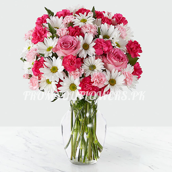 Red Flowers for Valentine - FromYouFlowers.pk