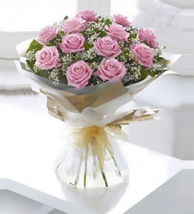 Pink Roses Flowers Delivery - FromYouFlowers.pk
