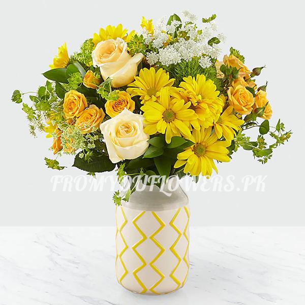 Valentine Flowers Online - FromYouFlowers.pk